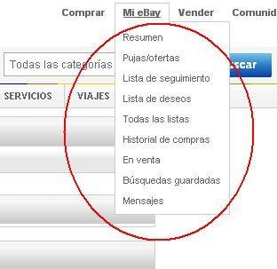 menu ebay