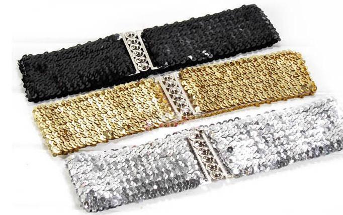 Cinturón elástico de lentejuelas 1.25 € (Gtos. de envío incluidos)