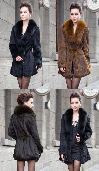 Abrigo lujo piel auténtica 18.97 € (envío incluido) en lugar de 285 € AGOTADO!!