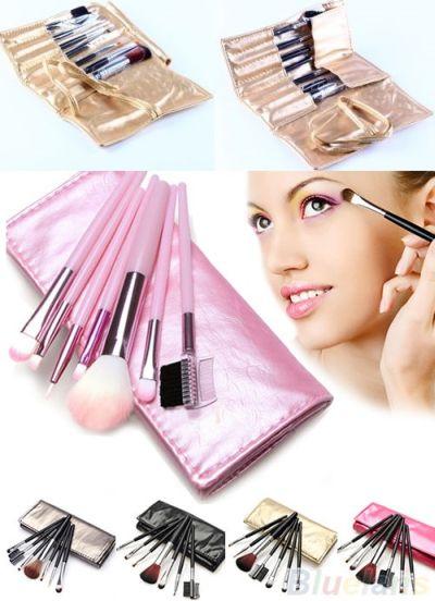 Set de 7 pinceles-brochas maquillaje con estuche 2.22 € (incluidos gastos de envío) ACTUALIZADO