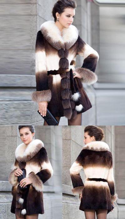 Abrigo de lujo piel auténtica 18.97 € (incluido envío) en lugar de 480 € AGOTADO!