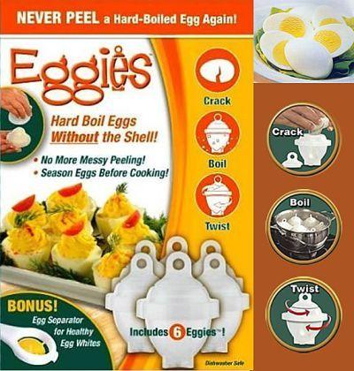 Eggies. Huevos cocidos sin tener que pelarlos 4.51 € (gastos de envío incluidos)