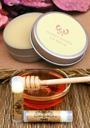 Receta Bálsamo labial de miel, con o sin color.