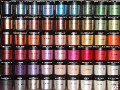 Sombra de ojos pigmentos de Mac 1.69 € (gtos de envío incluidos) en lugar de 20 € ACTUALIZADO