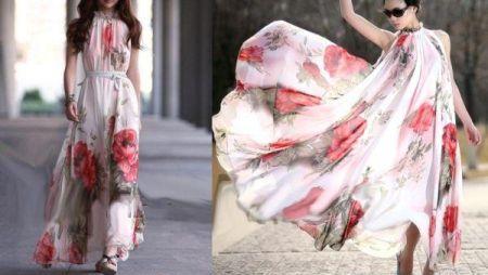 Maxi Vestido Floral de chifón 14.26 € (Gtos. de envío incluidos) ACTUALIZADO