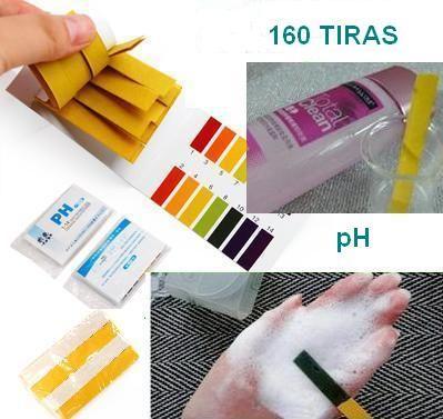 Lote 160 tiras para medir pH  (cosméticos y aguas) 0.66 € (Gtos. de envío incluidos) ACTUALIZADO