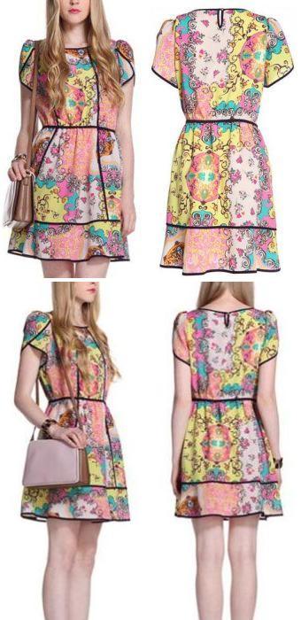 Vestido floral-chifon Fashion week 11.45 € (Gtos. de envío incluidos)