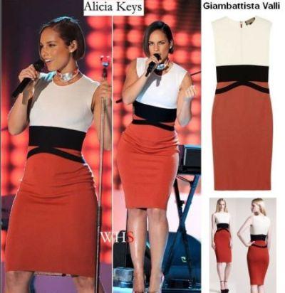Vestido Giambattista Valli-Alicia Keys 11.59 € (Gtos de envío incluidos) en lugar de 483 €