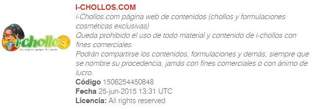 TODOS LOS CONTENIDOS Y FORMULACIONES DE I-CHOLLOS TIENEN COPYRIGHT